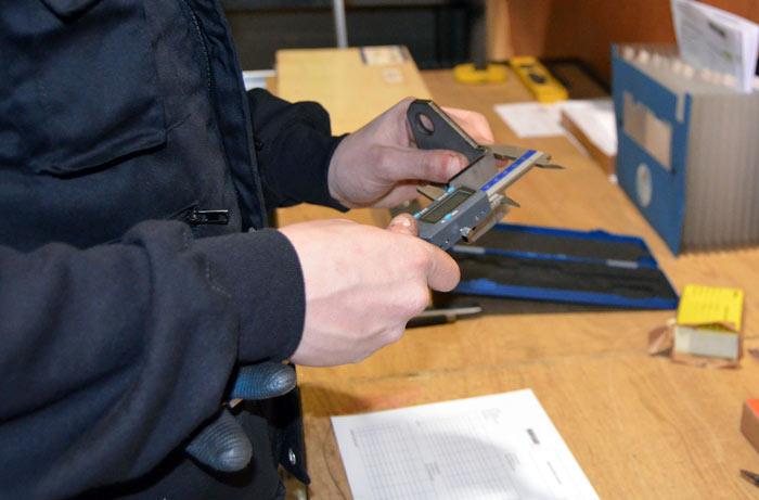 Proceso medición corte láser