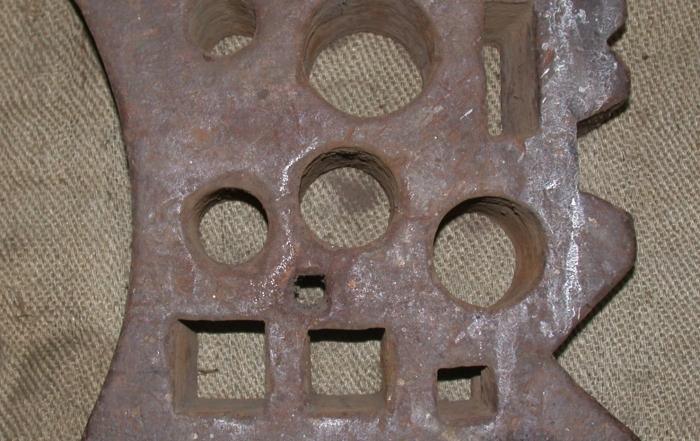 Molde de acero antiguo